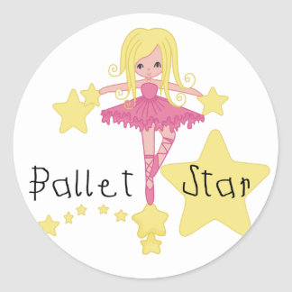 Ballet Star Tshirts and Gifts Classic Round Sticker