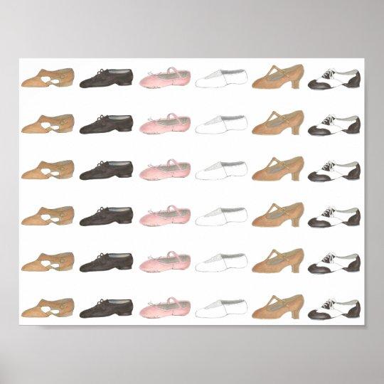 Ballet Tap Jazz Lyrical Dance Studio Shoe Poster