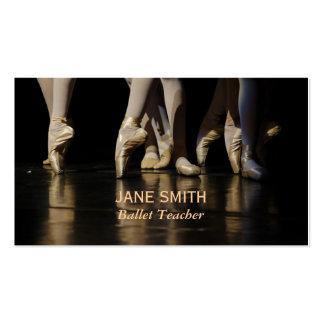 Ballet teacher ballet studios dance studio business card templates