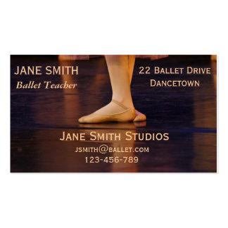 Ballet teacher ballet studios dance studio business card