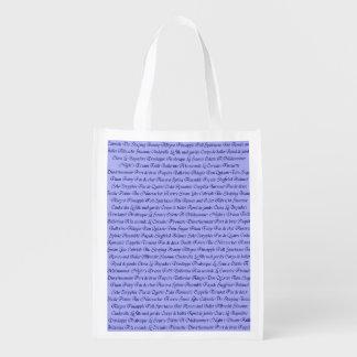 Ballet Terminology Reusable Grocery Bag