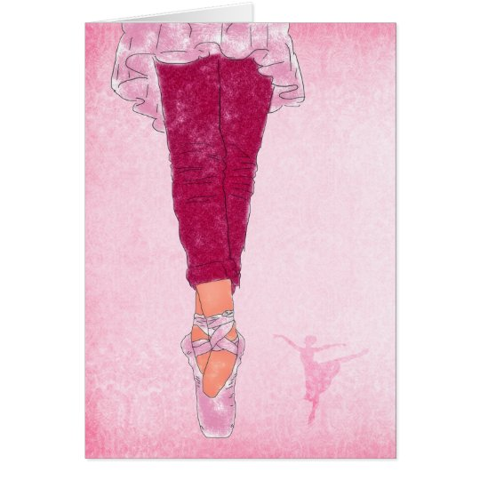 Ballet Theme in Pink and Rose Dancer Blank
