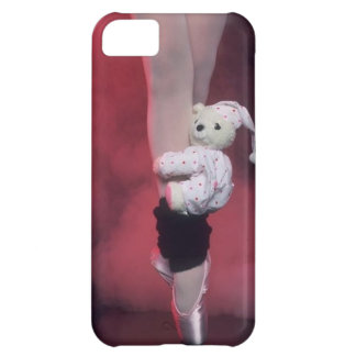ballet toe shoes with teddy bear iPhone 5C case