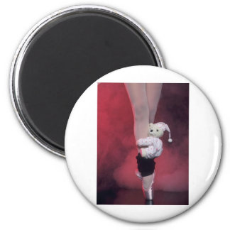 ballet toe shoes with teddy bear refrigerator magnet