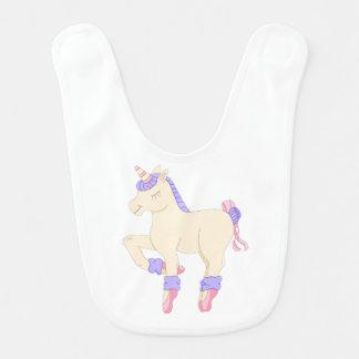 Ballet Unicorn Baby Bib