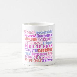Ballet Words Basic White Mug
