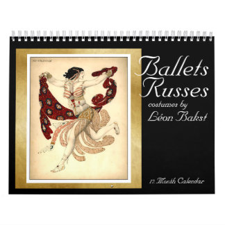 Ballets Russes costumes by Bakst - Calendar 2016