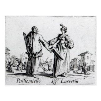 Balli de Sfessania, c.1622 2 Postcard
