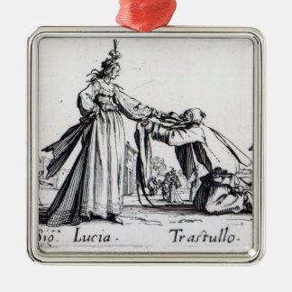Balli de Sfessania, c.1622 Square Metal Christmas Ornament