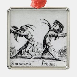 Balli de Sfessania, c.1622 Silver-Colored Square Decoration