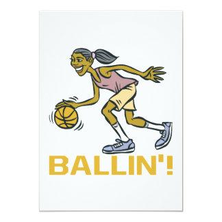 Ballin 13 Cm X 18 Cm Invitation Card