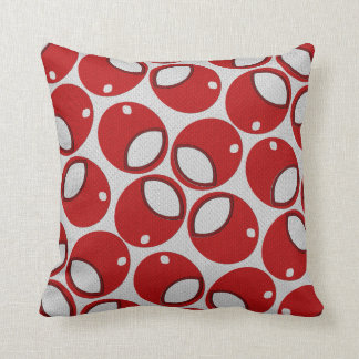 Balling Maroon-Red White Decor-Soft Pillows