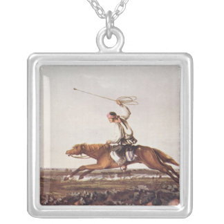 Balling Ostriches Silver Plated Necklace