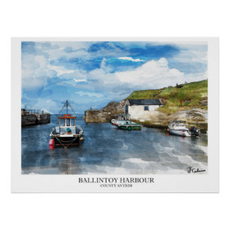 Ballintoy Harbour, Northern Ireland Poster