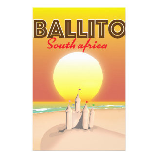 Ballito South african travel poster Stationery