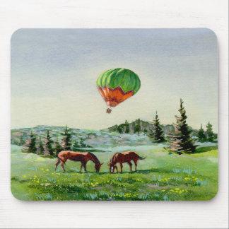 BALLON & HORSES by SHARON SHARPE Mouse Mat