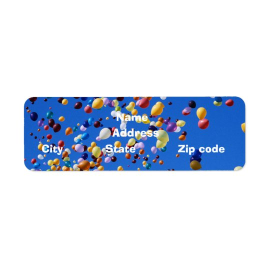 Ballons Return Address Label