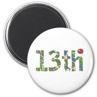 Balloon 13th Birthday Gifts Fridge Magnets