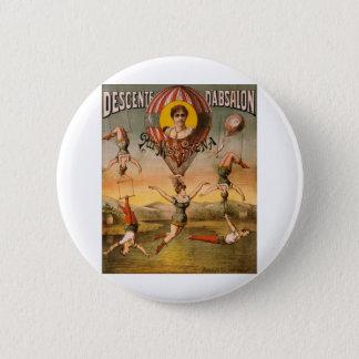 balloon 6 cm round badge