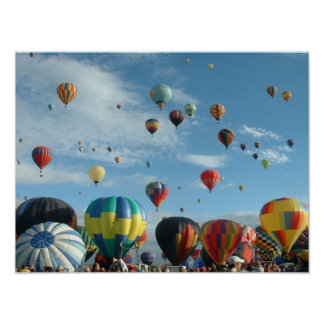 Balloon Albuquerque in the Morning Poster