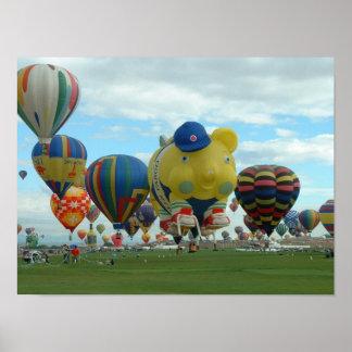 Balloon Albuquerque in the Morning Poster