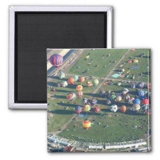 Balloon Albuquerque in the Morning Square Magnet
