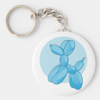 Balloon Animal Basic Round Button Key Ring