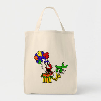 Balloon Animal Clown Grocery Tote Bag