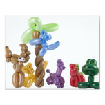 balloon animal group 4.25x5.5 paper invitation card