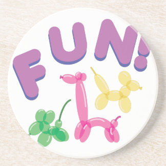 Balloon Animals Fun! Drink Coaster