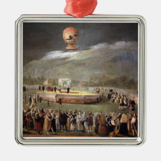 Balloon Ascension in the Gardens of Aranjuez, c.17 Christmas Ornament