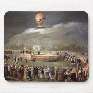 Balloon Ascension in the Gardens of Aranjuez, c.17 Mouse Mat