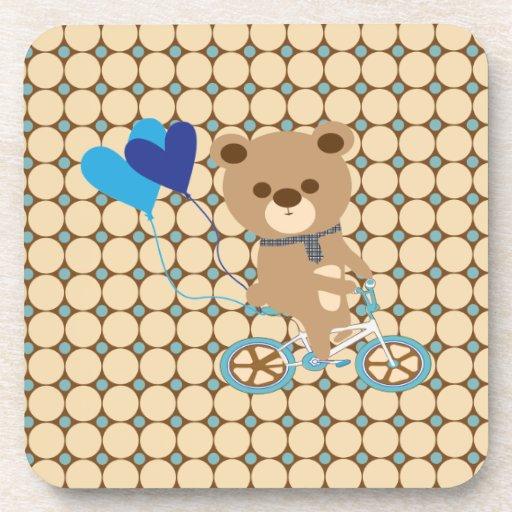Balloon bear drink coaster