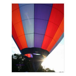 Balloon Blue Sunburst! XLTA Postcard