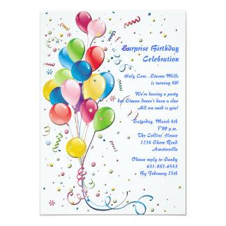 Balloon Bouquet Surprise Party Invitation