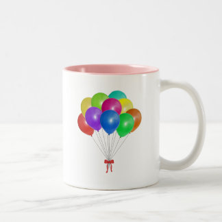 Balloon Bouquet Two-Tone Coffee Mug