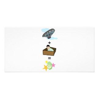 Balloon + Boy Hiding in Box = $$ Stardom $$ Picture Card