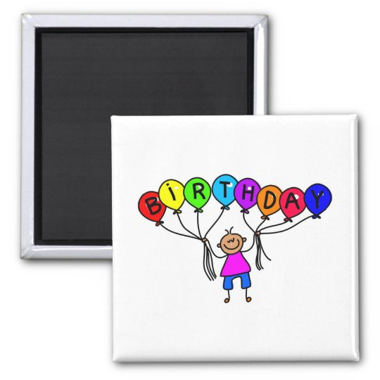 balloon boy square magnet
