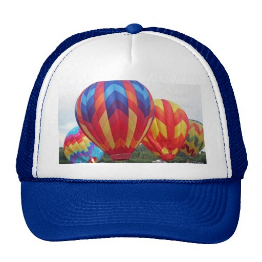 Balloon brightly colored mesh hats