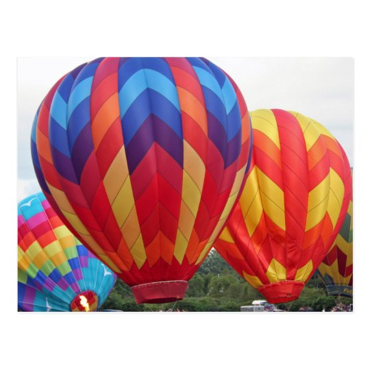 Balloon brightly coloured postcard