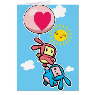 Balloon Bunny Greeting Card