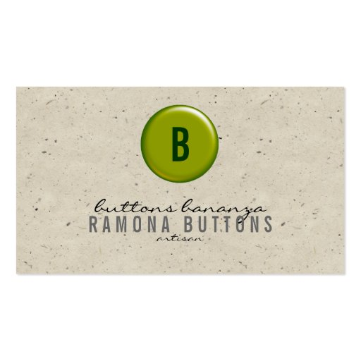 Balloon Button Speckle Business Card Template