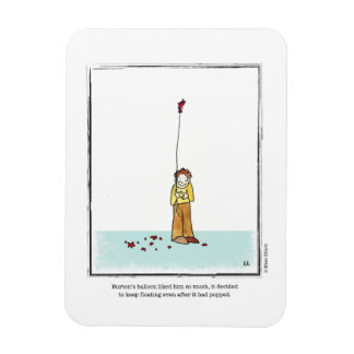 BALLOON cartoon by Ellen Elliott Rectangular Photo Magnet