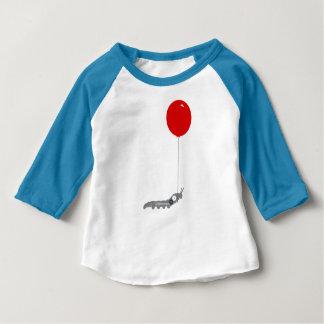Balloon Caterpillar Baby 3/4 Sleeve Raglan T-Shirt