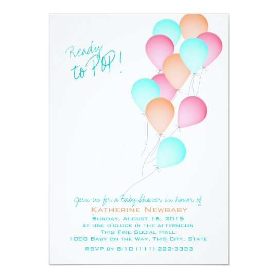 Balloon Celebration Baby Shower Card