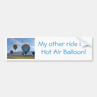 Balloon cluster bumper sticker
