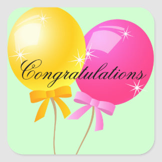 Balloon Congratulations Sticker