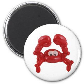 Balloon crab 6 cm round magnet