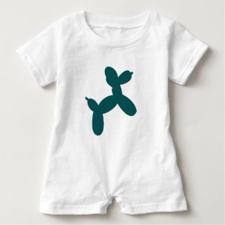 Balloon Dog Baby Romper, Teal Baby Bodysuit