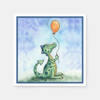 Balloon Dragon paper napkins